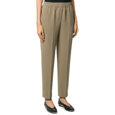 Theory Green Classic Easy Fit Trousers