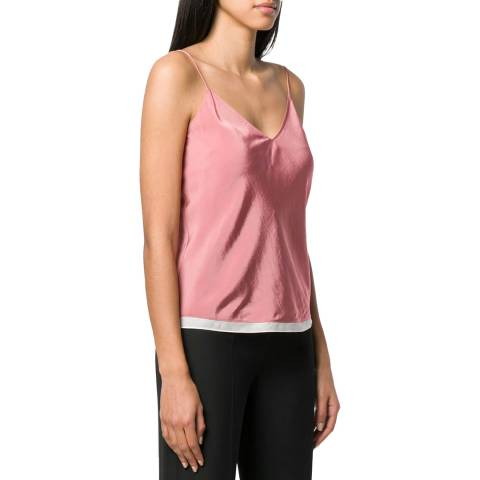 Theory Pink Easy Slip Top