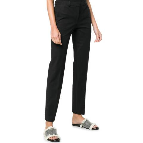 Theory Black Tailored Cropped Trousers