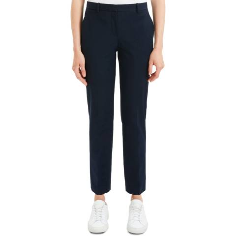 Theory Blue Tailored Cropped Trousers