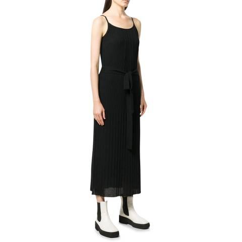 Theory Black Pleated Dress