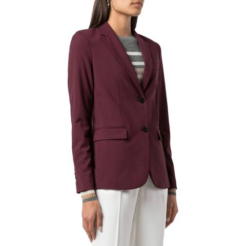 Theory Red Classic Wool Blend Blazer