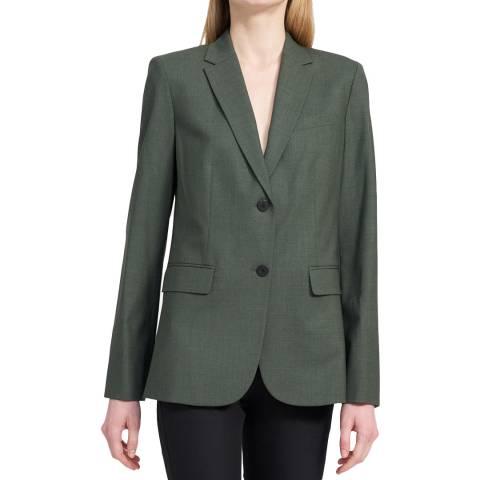 Theory Green Classic Wool Blend Blazer