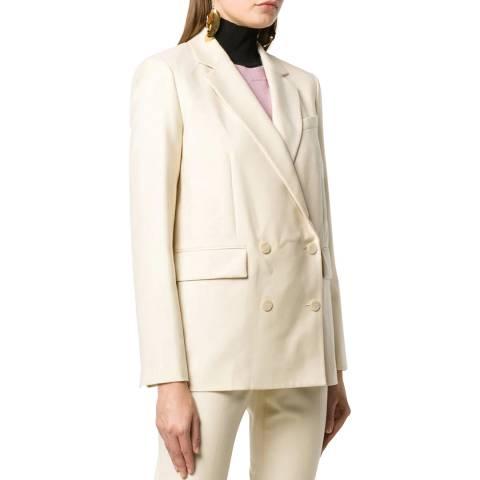 Theory Cream Wool Piazza Sleek Jacket