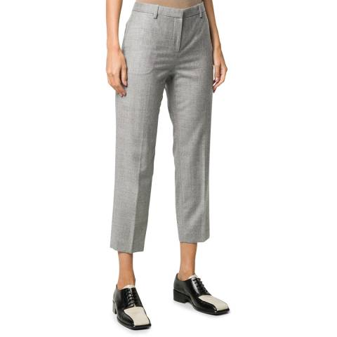 Theory Grey Flannel Wool Trousers