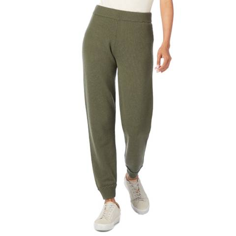 Theory Green Whipstitch Cashmere Bottoms
