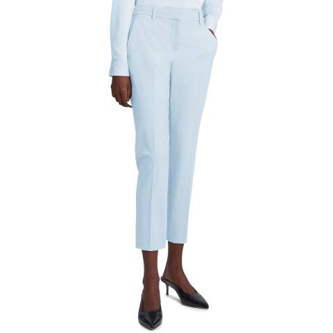 Theory Blue Treeca 2 Slim Fit Cropped Trousers