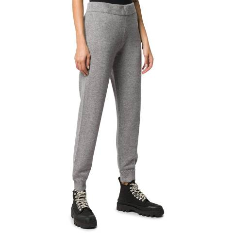 Theory Grey Whipstitch Cashmere Bottoms