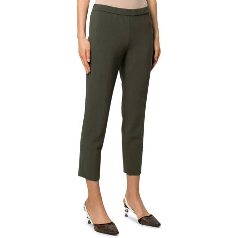 Theory Green Basic Pull On Pants