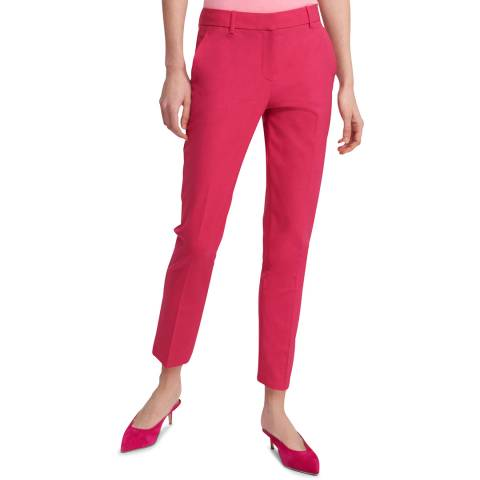 Theory Red Treeca Wool Blend Trousers