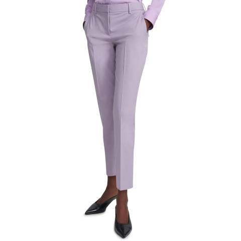 Theory Purple Treeca Wool Blend Trousers