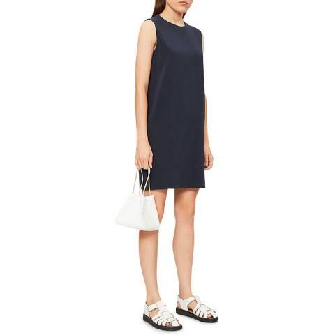 Theory Navy Column Mini Dress