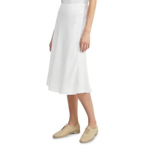 Theory White Faux Wrap A Line Skirt