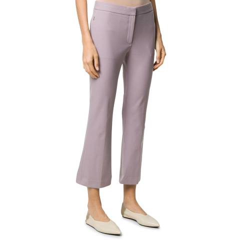 Theory Purple Kick Cropped Trousers