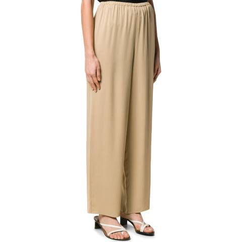 Theory Beige Wide Leg Pull On Pants