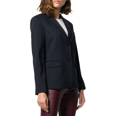 Theory Grey Classic Shrunken Striped Jacket