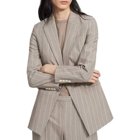 Theory Grey Wool Blend Etiennette Blazer