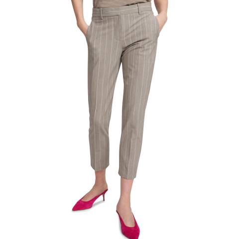 Theory Grey Treeca Wool Blend Trousers