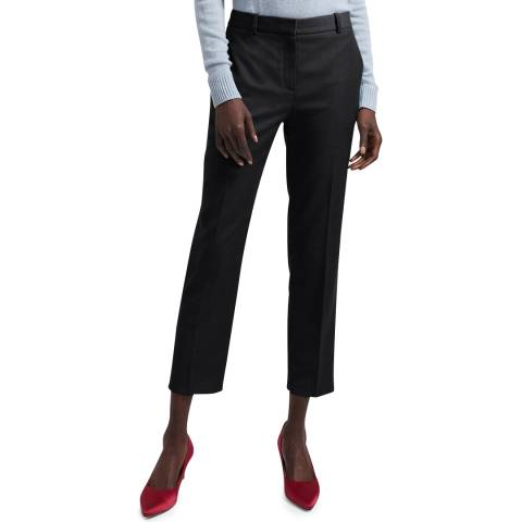 Theory Charcoal Tailored Cropped Trousers