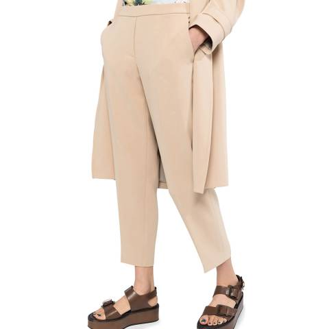Theory Pink Treeca Pull On Cropped Trousers