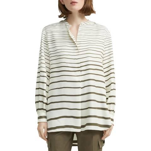 Theory Brown Stripes Silk Tunic