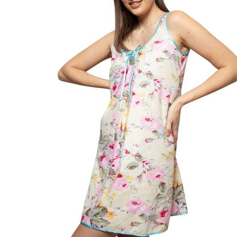 Cottonreal Pink/Multi Grand Flora Sweetheart Chemise