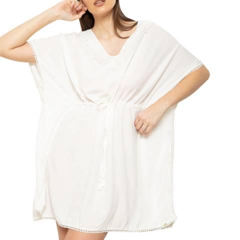 Cottonreal White Super Soft Deluxe Viscose Kaftan-Lounger