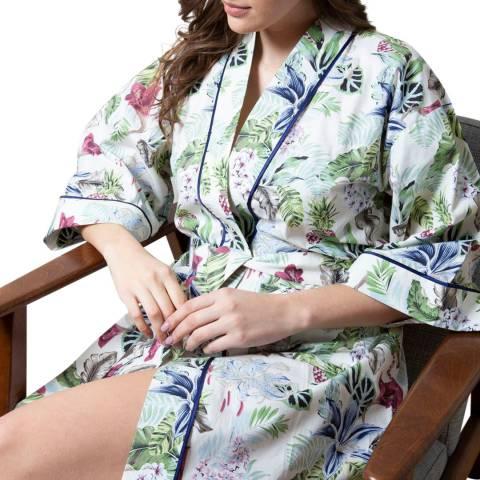 Cottonreal Multi Poplin Lilly Fern Cotton Kimono Wrap
