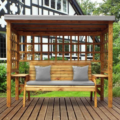 Charles Taylor Wentworth Three Seater Arbour Grey
