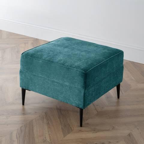 Cozey The Jefferson Footstool, Manhattan Emerald