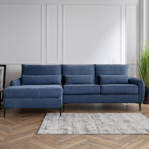 Cozey The Jefferson Large Left Hand Chaise Manhattan Navy