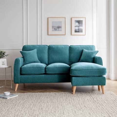 Cozey The Oscar Right Hand Chaise Sofa, Manhattan Emerald