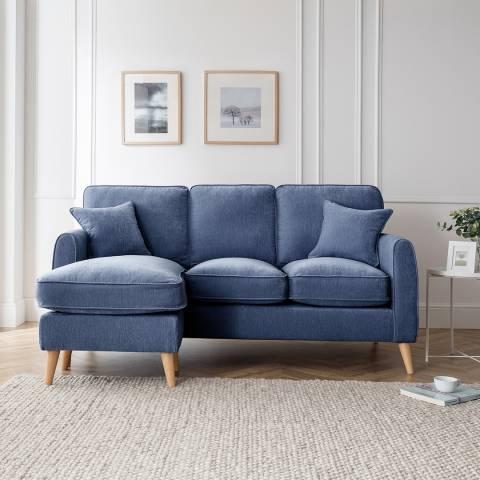 Cozey The Oscar Left Hand Chaise Sofa, Manhattan Navy