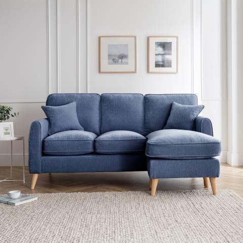 Cozey The Oscar Right Hand Chaise Sofa, Manhattan Navy