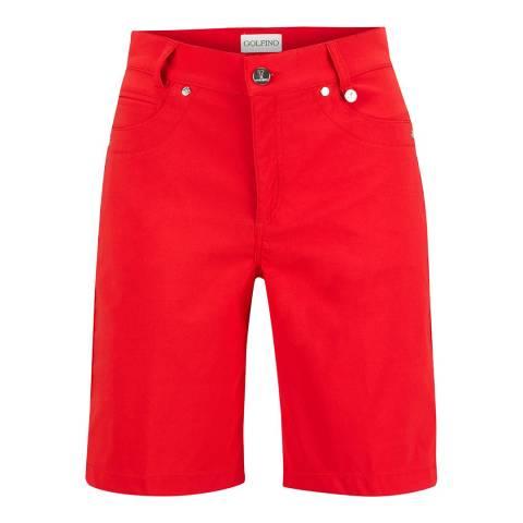 GOLFINO Red Technical Bermuda Shorts