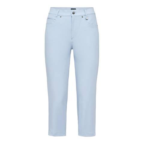 GOLFINO Blue Stretch Capri Trousers
