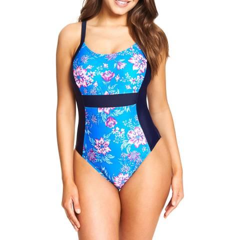 Zoggs Multi/Navy Wild Rose Side Panel Swimsuit