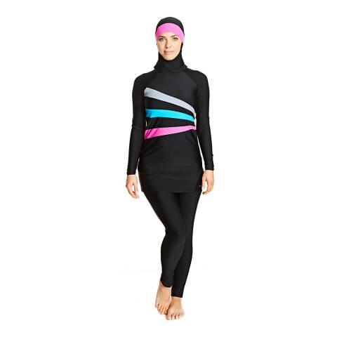 Zoggs Black Sandon Modesty Suit