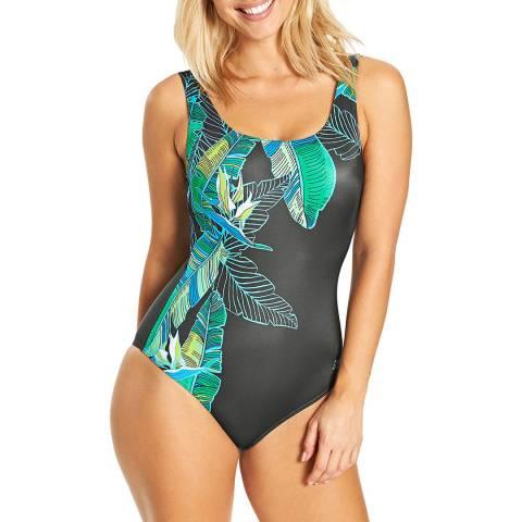 Zoggs Multi/Grey Corsica Scoopback Swimsuit
