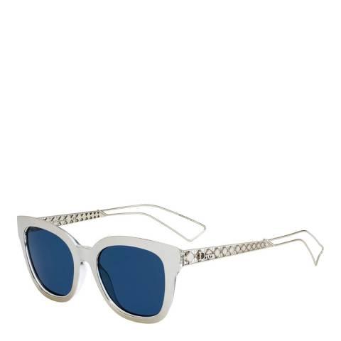 Dior Women's White/Blue Dior Sunglasses 52mm
