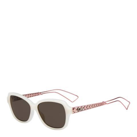 Dior Women's Ivory/Peach Dior Sunglasses 56mm