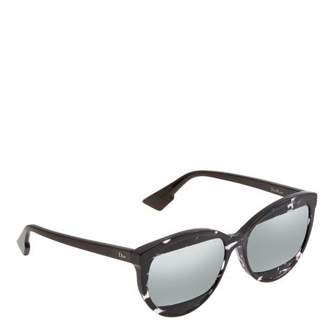Dior Women's Black/White Dior Sunglasses 57mm