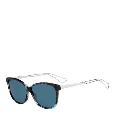 Dior Unisex Blue Havana Dior Sunglasses 57mm