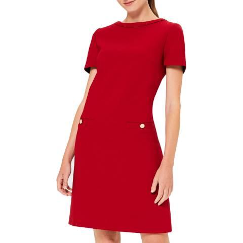 Hobbs London Red Petra Shirt Dress
