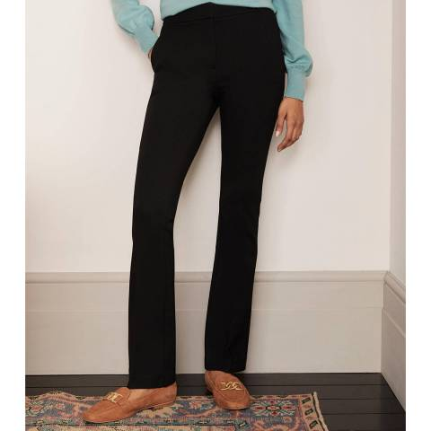 Boden Black Hampshire Bootcut Trousers