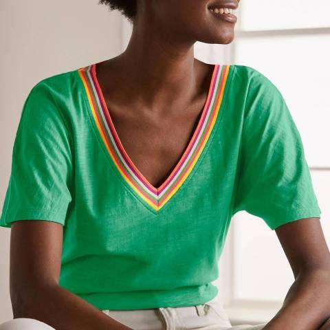 Boden Green Cotton Jersey Top