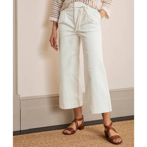 Boden Ivory Wide Leg Culottes