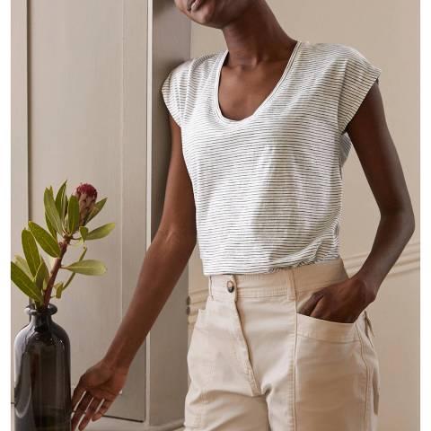Boden Ivory Cotton T-Shirt