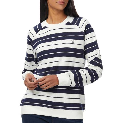 Crew Clothing Navy/White Striped Cotton Sweatshirt