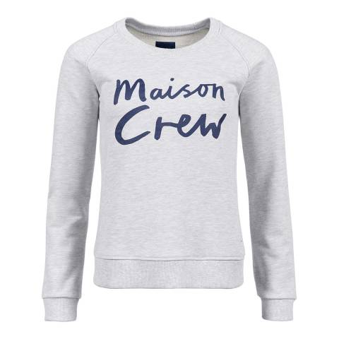 Crew Clothing Grey Cotton Graphic Crew Sweatshirt